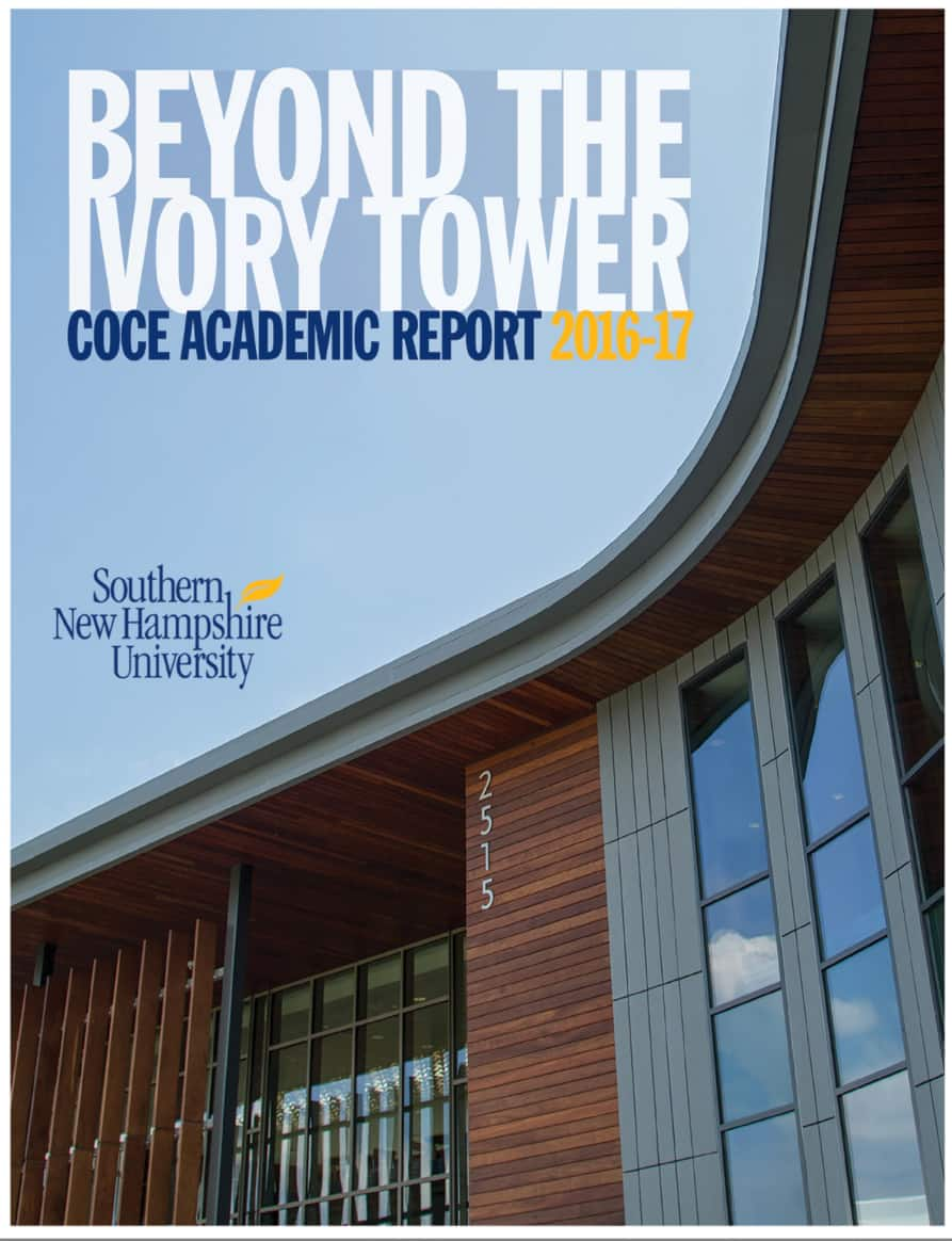 The cover of the COCE academic report