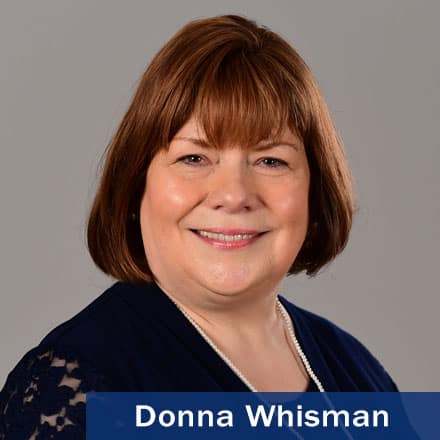 Donna Whisman and the text Donna Whisman