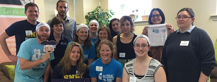Members of the SNHU community volunteering as a part of Global Days of Service