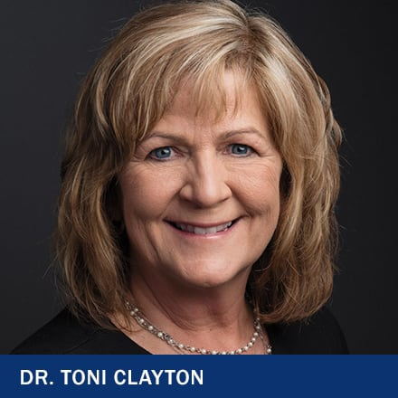 Dr. Toni Clayton and the text Dr. Toni Clayton
