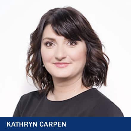 Kathryn Carpen and the text Kathryn Carpen