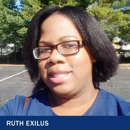 Ruth Exilus and the text Ruth Exilus