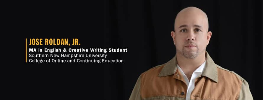Portrait of Jose Roldan Jr., MA in English and Creative Writing Student