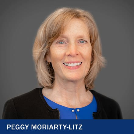 Peggy Moriarty-Litz and the text Peggy Moriarty-Litz.