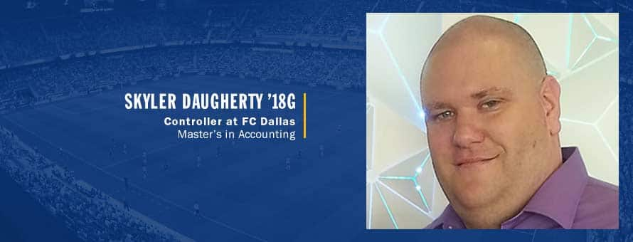 FC Dallas controller and SNHU master's in accounting graduate Skyler Daugherty.