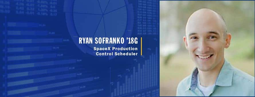 Ryan Sofranko production control scheduler for a Payload Integration Team at SpaceX and graduate of SNHU's MS in Data Analytics program.