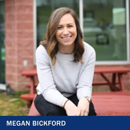 Megan Bickford and the text 'Megan Bickford'