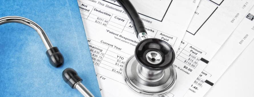 Stethoscope and medical billing and coding