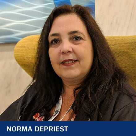 Norma Depriest and the text Norma Depriest