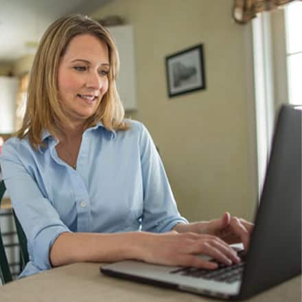 An adult learner discovering how online classes work.