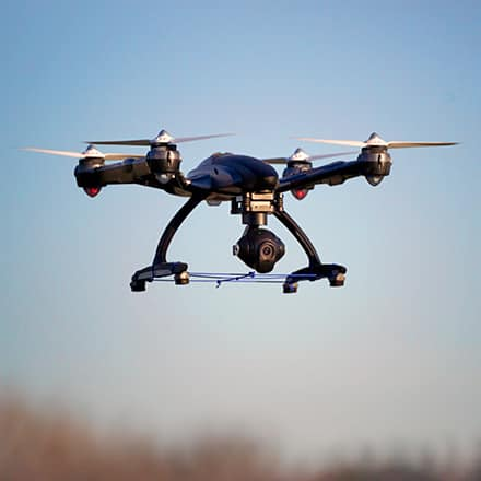 A drone in mid-air