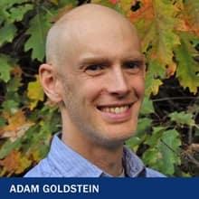 Adam Goldstein with the text Adam Goldstein