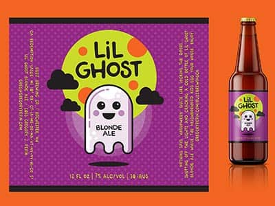 """Little Ghost Blonde Ale"" Craft Beer Label, Gregory Pepin"
