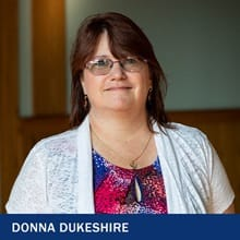 Donna Dukeshire with the text Donna Dukeshire