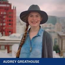 Audrey Greathouse with the text Audrey Greathouse