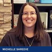Michelle Shreevee with the text Michelle Shreevee