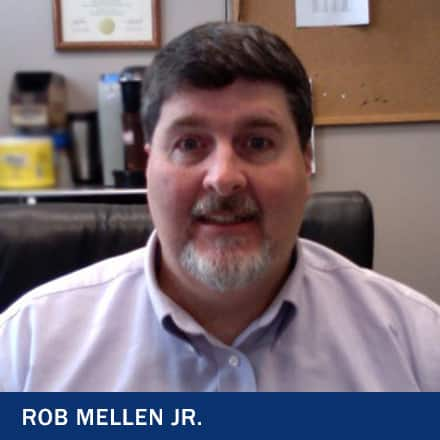 Rob Mellen Jr. with the text Rob Mellen Jr.