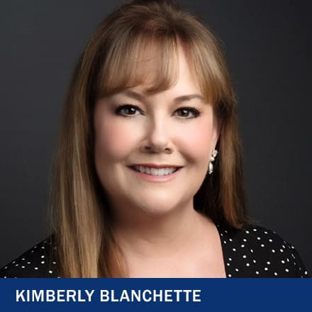 Kimberly Blanchette with text Kimberly Blanchette