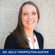 Dr. Kelly Thrippleton-Hunter with the text Dr. Kelly Thrippleton-Hunter