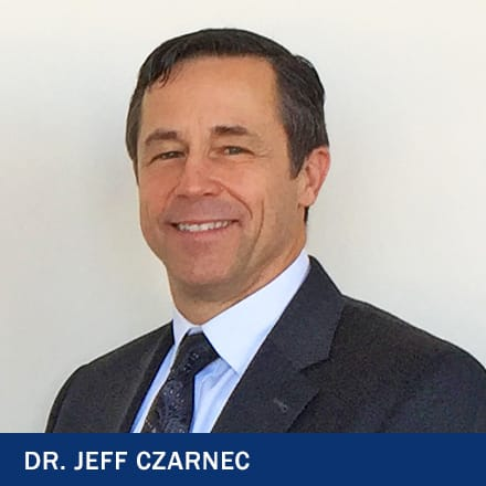 Dr Jeff Czarnec in a suit with text 'Dr. Jeff Czarnec'