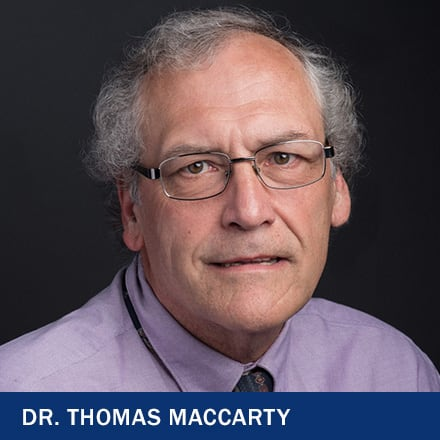 Dr. Thomas MacCarty and the text Dr. Thomas MacCarty