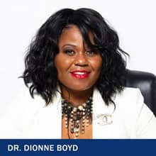 Dr. Dionne Boyd and the text Dr. Dionne Boyd.