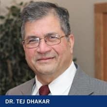 Dr. Tej Dhakar with the text Dr. Tej Dhakar