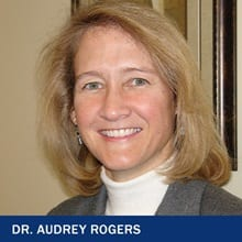 Dr. Audrey Rogers with the text Dr. Audrey Rogers