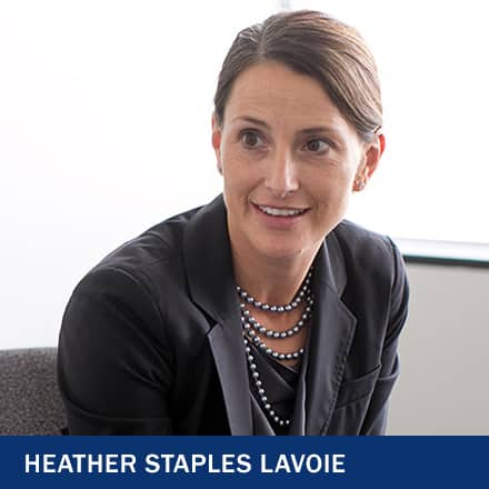 Heather Staples Lavoie with text Heather Staples Lavoie