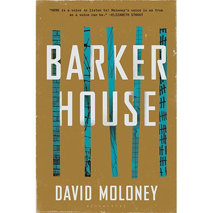 The cover of David Moloney's fiction book, 'Barker House.'