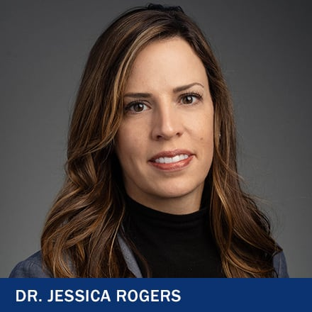 Dr. Jessica Rogers with the text Dr. Jessica Rogers