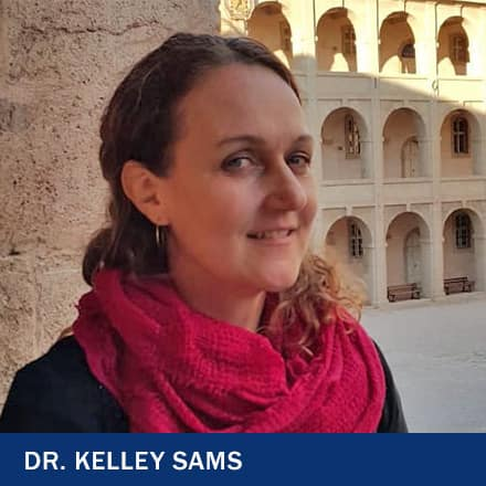 Dr. Kelley Sams with the text Dr. Kelley Sams