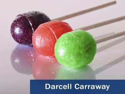 Photo of 3 lollipops taken by Darcell Carraway.
