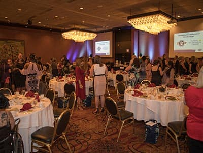 The reception room that hosted SNHU's Operation Homefront celebration in Anchorage, Alaska.