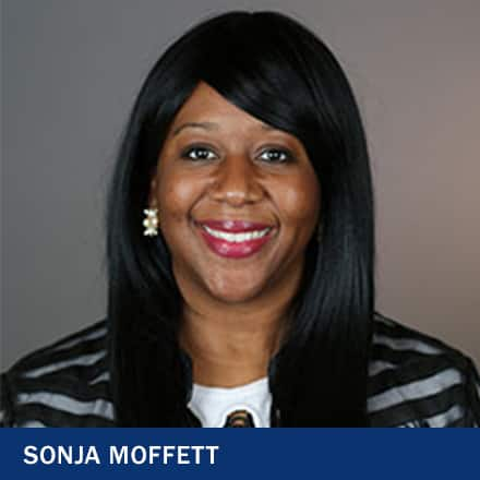 Sonja Moffett and the text Sonja Moffett.