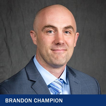 Brandon Champion and the text Brandon Champion