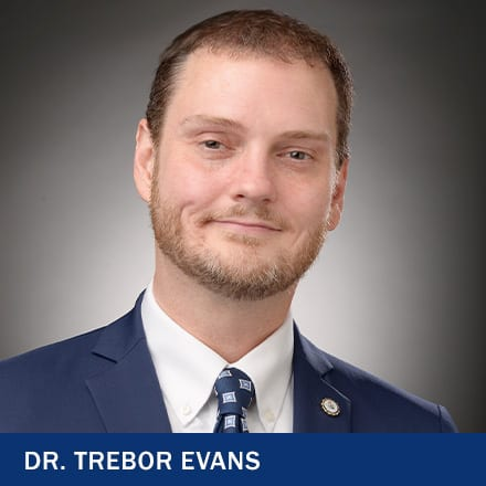 Dr. Trebor Evans and the text Dr. Trebor Evans