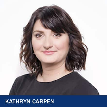 Dr. Katie Carpen and the text 'Kathryn Carpen'