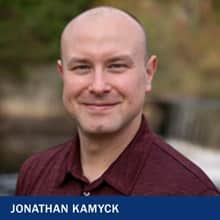 Jonathan Kamyck with the text Jonathan Kamyck