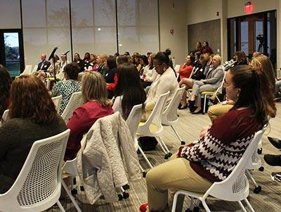 Audience at the Women in Business panel discussion