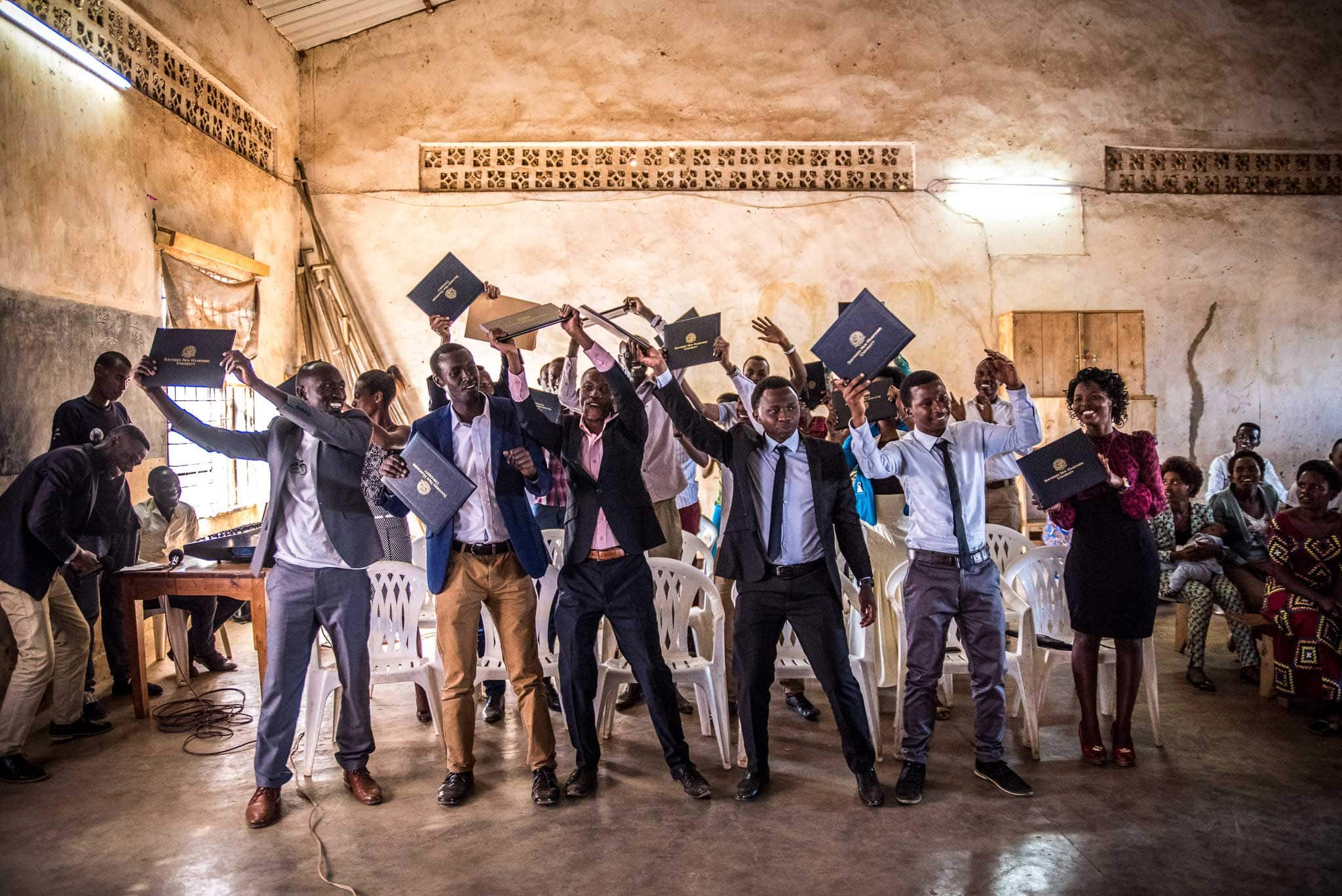 Refugee Education Graduates - Photographer Alex Buisse