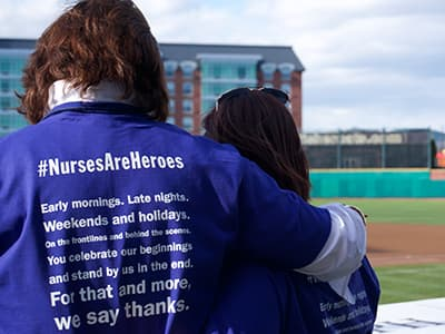 Nurses At Fisher Cats Game