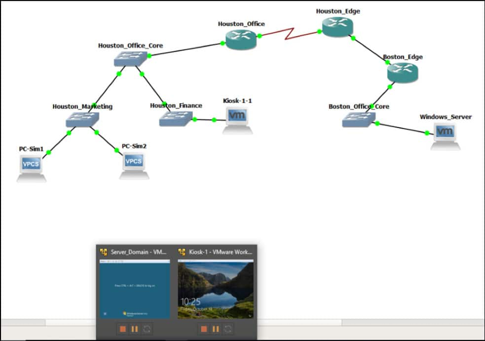 Capture of computer networking simulation software CyberSim<sup>™</sup>