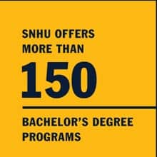 Infographic with text SNHU offers more than 150 bachelor's degree programs