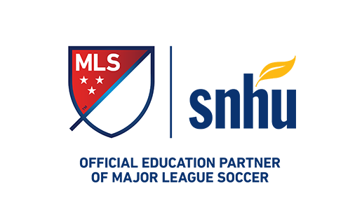 SNHU, the official education partner of Major League Soccer.