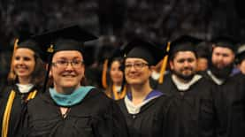 Students at 2016 commencement