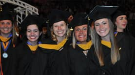 A group of students at commencement