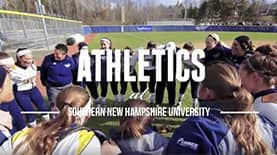 Athletics gather to represent athletics at Southern New Hampshire University.