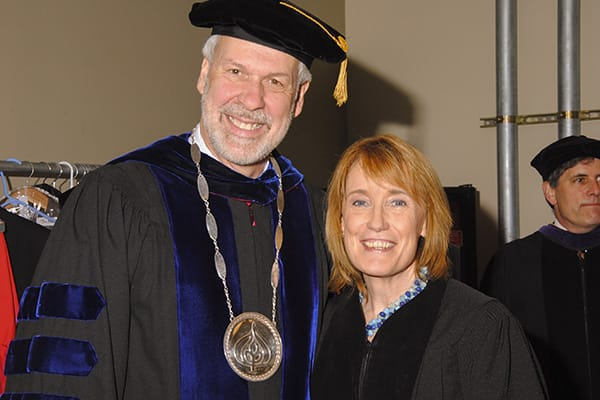 President Paul LeBlanc and Maggie Hassen at Commencement 2014