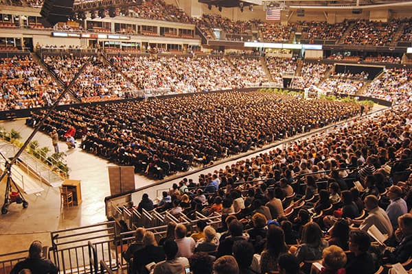 all students at Commencement 2014
